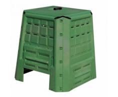 Composteur de jardin en plastique 370L 80x80xh84 cm compost déchets organiques