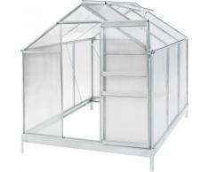 Serre de Jardin, Serre de Jardinage, Abri de Jardin 5,85m³ Aluminium avec Fenêtre de Toit & Châssis