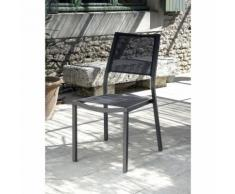 Chaise de jardin Florence Brun Taupe Vendu(e)s par 2