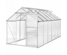 Serre de Jardin, Serre de Jardinage, Abri de Jardin 11,13 m³ à Fenêtres de Toit en Aluminium 375 cm