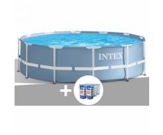 Kit piscine tubulaire Prism Frame ronde 3,66 x 0,99 m + bâche de protection - Intex