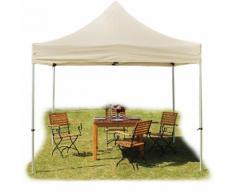 Tente pliante / pliable PREMIUM 3x3 m sans bâches de côté en Polyester de qualité INTENT24 beige