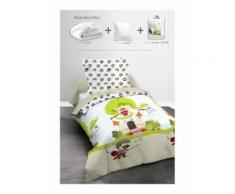 Pack Linge de lit enfant CHEVALIER- 1 couette 140x200cm + 1 oreiller 60x60cm + 1 Parure de couette
