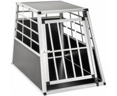 Cage, caisse, box de transport pour chien en Aluminium 65 cm x 90 cm x 69,50 cm