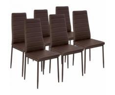 6 Chaises de salle à manger ou de cuisine design, Chaise de Salon, Meuble de salon, Mobilier de