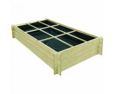 Jardinière pour légumes Bois de pin imprégné 197 x 100 x 40 cm
