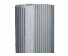 Canisse PVC double face Gris 18 m - 6 rouleaux de 3 x 1,20 m - Jardideco