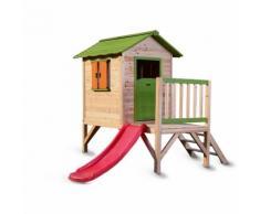 Maisonnette en bois avec toboggan