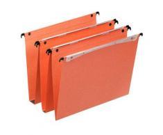 Dossiers suspendus en kraft orange Orgarex Dual - pour tiroir - fond 15 mm - paquet de 25