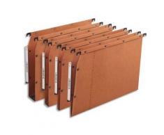 Dossiers suspendus AZV en carte Canson orange - pour armoire - fond 15 mm - paquet de 25