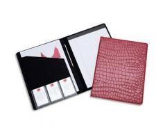 Conférencier Rexel Croc - format A4 - couverture motif croco rouge - carnet de notes inclus