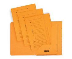 Chemise 2 rabats HV Ultimate pour dossiers suspendus - jaune - 23.5 x 31,5 cm - paquet de 25