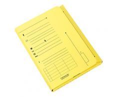 Chemise 2 rabats HV Ultimate pour dossiers suspendus - jaune pastel - 23.5 x 31,5 cm - paquet de 25