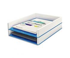 Corbeille à courrier Leitz Dual blanc/bleu métallisé - Lot de 4