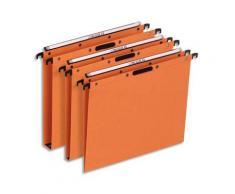 Dossiers suspendus en kraft orange L'Oblique AZX - pour tiroir - fond AZX - attache velcro - paquet de 25