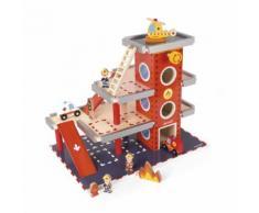 Caserne de pompiers couleur unique J05717 - JANOD