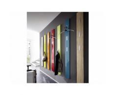 Porte manteau mural en bois 3 accroches rabattables H170cm COLORADO 50x70cm,