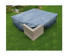 Housse de protection salon bas de jardin 250x250xH70 cm gris/noir GRAPHITE noir