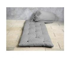 Matelas futon d'appoint 1 personne 70x190 BED IN BAG 90 X 190 cm gris