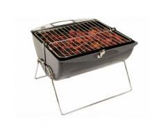 Barbecue charbon nomade cuve en acier longueur 35cm ROLL & COOK gris