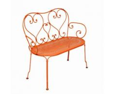 Banc de jardin FERMOB acier 2 places orange carotte- Assise perforée - L105cm 1900