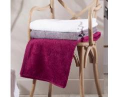 Serviette de toilette unie 100% coton 580gr/m2 50x100cm - lot de 2 AUGUSTIN rose