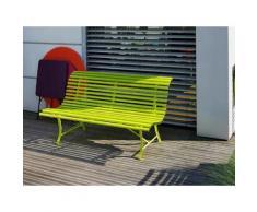 Banc de jardin FERMOB vert verveine 3 places en acier L150cm LOUISIANE