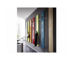 Porte manteau mural en bois 3 accroches rabattables H170cm COLORADO