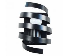 Applique murale spirale en métal noir BARBER POLE