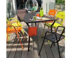 Table de jardin rectangulaire Acier MONCEAU 146_X_80_CM marron