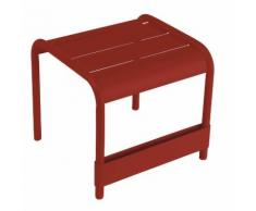 Table basse de jardin / repose pieds FERMOB 42x43 cm aluminium rouge LUXEMBOURG