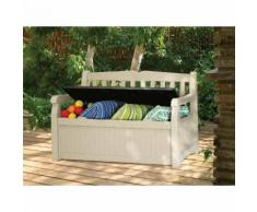 Coffre-banc de jardin en résine 265 L BOGOTA blanc