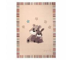 Tapis enfant lapin 170x240cm LITTLE BEST FRIENDS