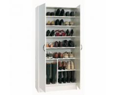 Armoire de rangement 2 portes / capacité 26 paires de chaussures