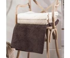 Serviette de toilette unie 100% coton 580gr/m2 50x100cm - lot de 2 AUGUSTIN marron