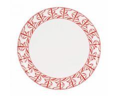 Plat à tarte en porcelaine rouge 26cm MADRAS