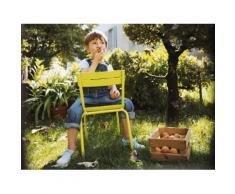 Chaise de jardin enfants empilable Aluminium - Lattes galbées LUXEMBOURG verveine