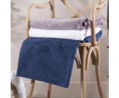 Serviette de toilette unie 100% coton 580gr/m2 50x100cm - lot de 2 AUGUSTIN bleu marine