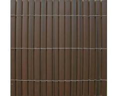 Canisse en PVC occultant 95% 1.5m marron