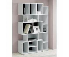 Etagère design en bois blanc 16 niches FRAME