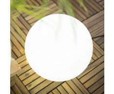 Boule lumineuse extérieure en polyéthylène blanc D40cm BULY