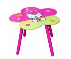 Table enfant HELLO KITTY en bois rose et vert