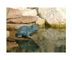 Gargouille pour bassin Petite Grenouille - H12 cm gris GRENOUILLE