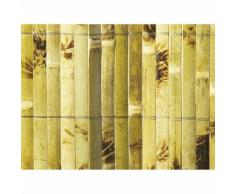 Canisse de bambou fendu et vernis deco occultant 85% marron YANGTSE