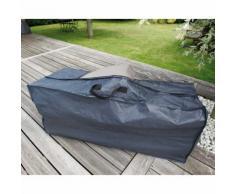 Housse de protection et de rangement coussins 128x37xH57 cm gris/noir GRAPHITE noir