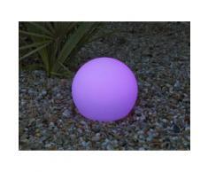 Boule lumineuse extérieure solaire multicolore sans fil D20 cm BULY