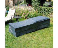 Housse de protection bain de soleil 205x78xH40 cm gris/noir GRAPHITE noir