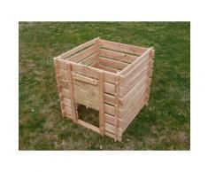 Composteur en bois Douglas Naturel CIHB,