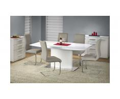 JUSTyou Elias Table salle a manger 180x90x76 Blanc