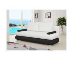 JUSTyou Milo Canapé lit sofa 95x205x90 cm Blanc Noir
